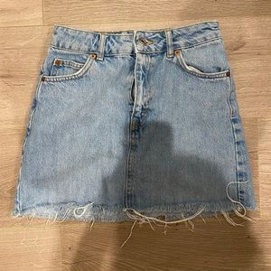Topshop Denim Mini Skirt Size 2